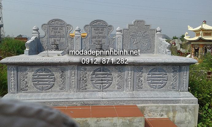 Mẫu mộ đá đôi đẹp 002