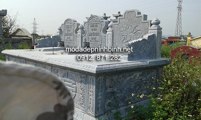 Mẫu mộ đá đôi 003