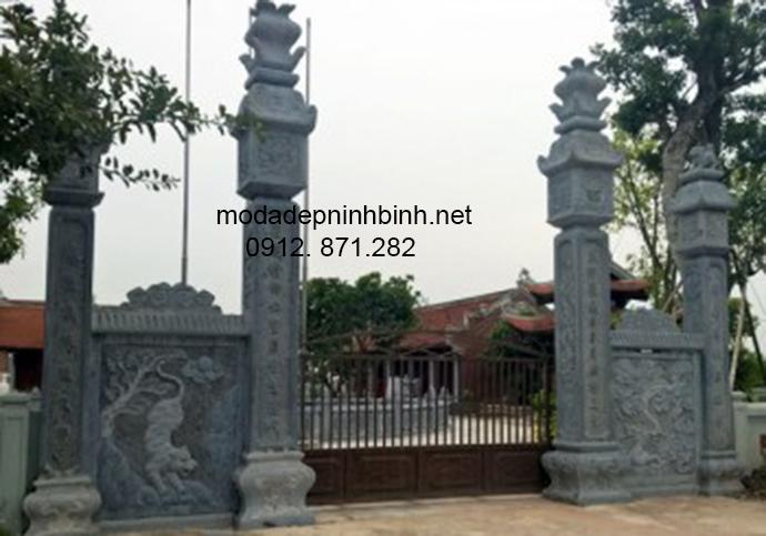 Mẫu cổng tam quan đá đẹp 006