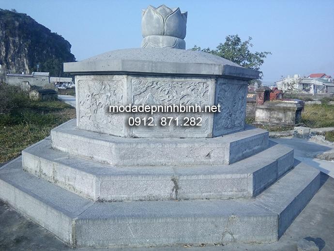 Mẫu mộ bát giác đẹp 004