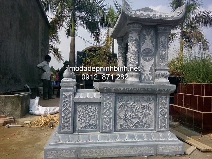 Mẫu mộ đá một mái đẹp 006