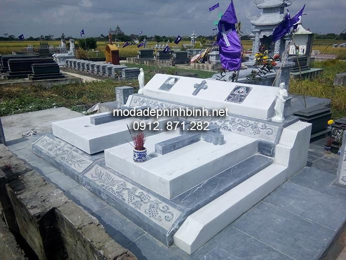 Mẫu mộ đá công giáo đẹp 007
