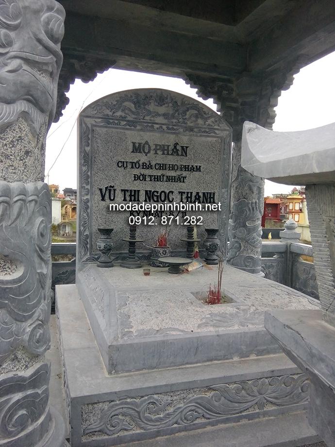 Mẫu mộ bành đá đẹp 006