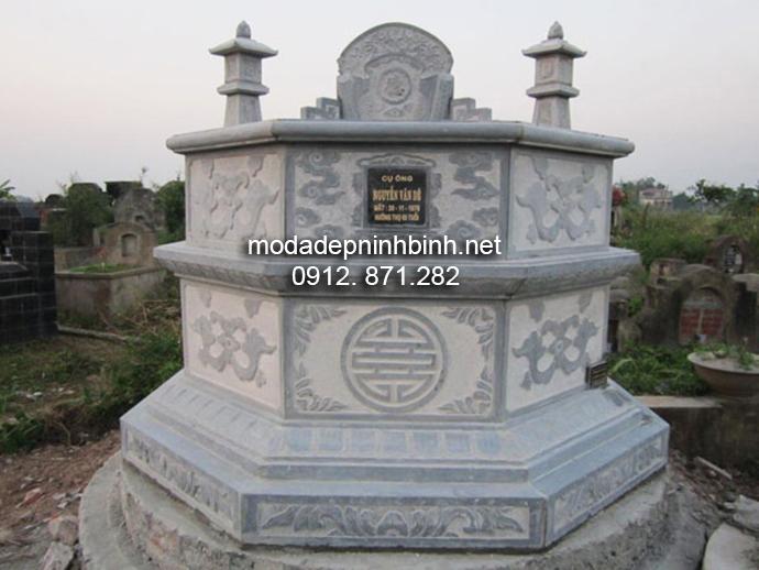 Mẫu mộ đá bát giác đẹp 006