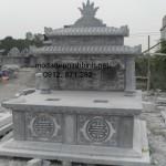 Mẫu mộ đá hai mái đẹp 008
