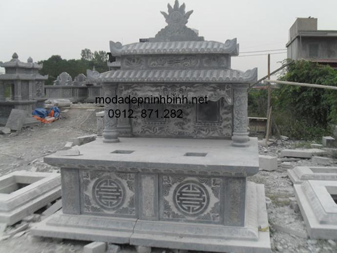 Mẫu mộ đá hai mái đẹp 006