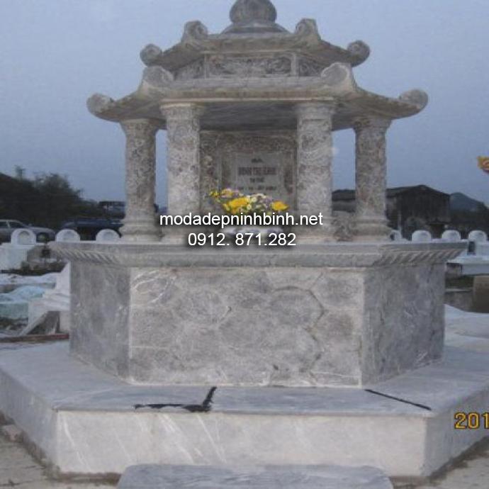 Mộ đá hình bát giác đẹp 008