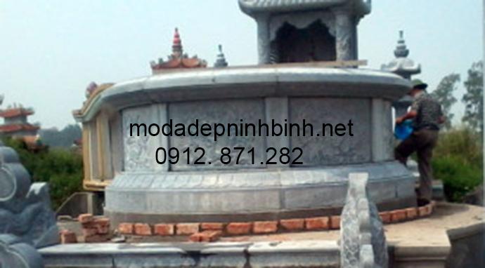 Mẫu mộ đá tròn đẹp 009