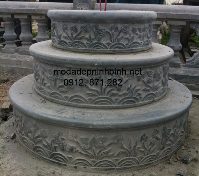 Mẫu mộ đá tròn đẹp 004