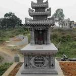 Mẫu mộ đá ba mái đẹp 002