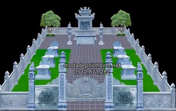 Mẫu thiết kế xây mộ đẹp theo phong thủy