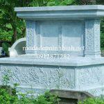 Lăng mộ đá đẹp thiết kế đơn giản