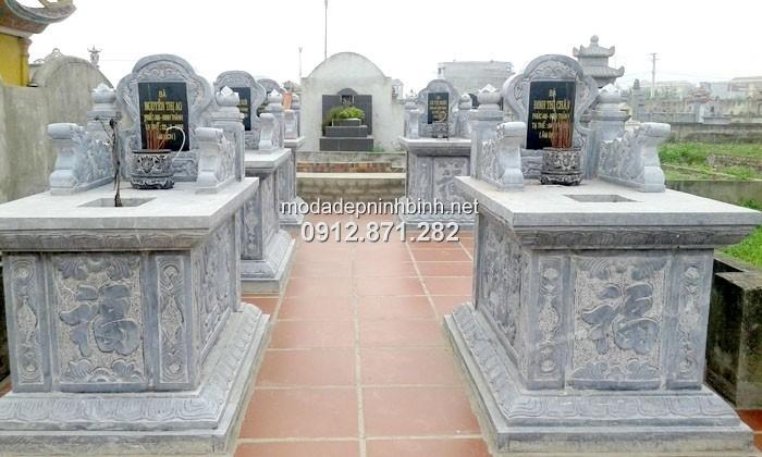 Kích thước xây mộ đôi