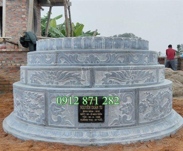 Mộ đá tròn phong thủy , Kích thước xây mộ tròn, Mộ tròn phong thủy, Mộ tròn kích thước đẹp
