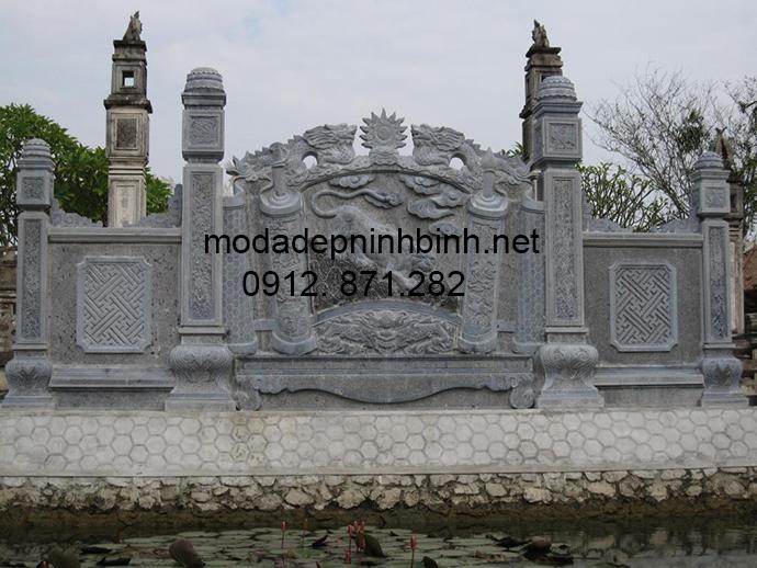 Mẫu cổng tam quan đá đẹp 002