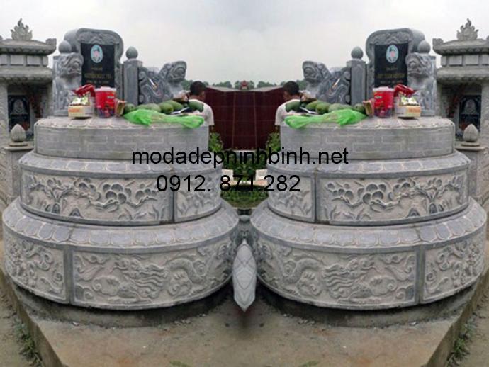 Mẫu mộ đá tròn đẹp 002