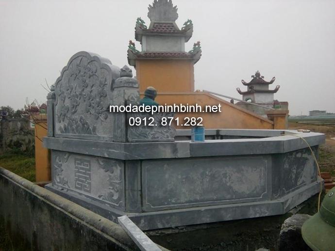 Mẫu mộ đá bát giác đẹp 002