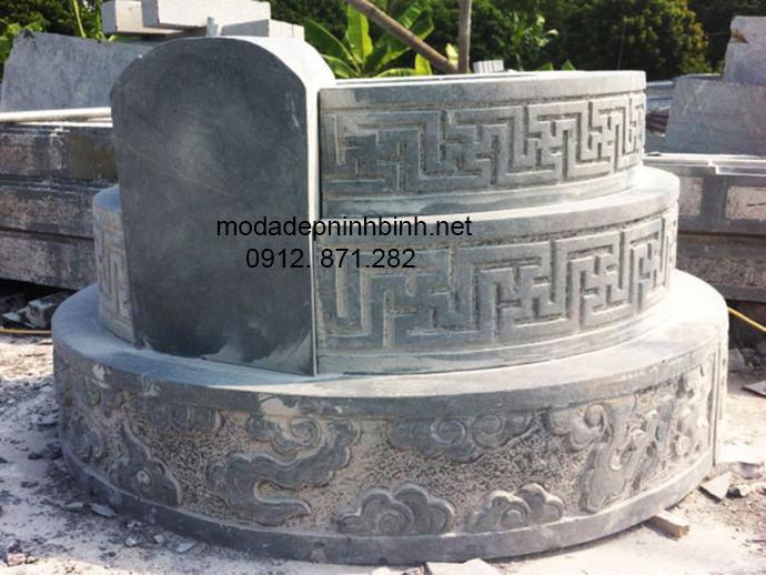 Mẫu mộ đá tròn đẹp 003