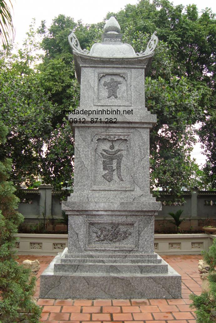 Mẫu mộ tháp đá đẹp 002