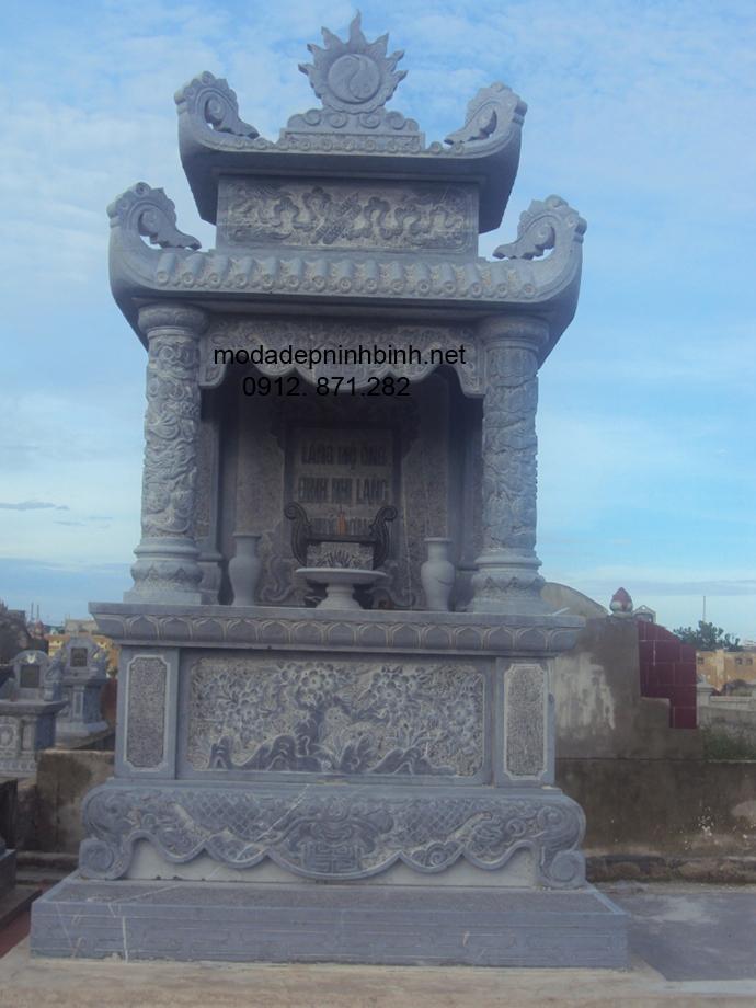 Mẫu mộ tháp đá đẹp 003