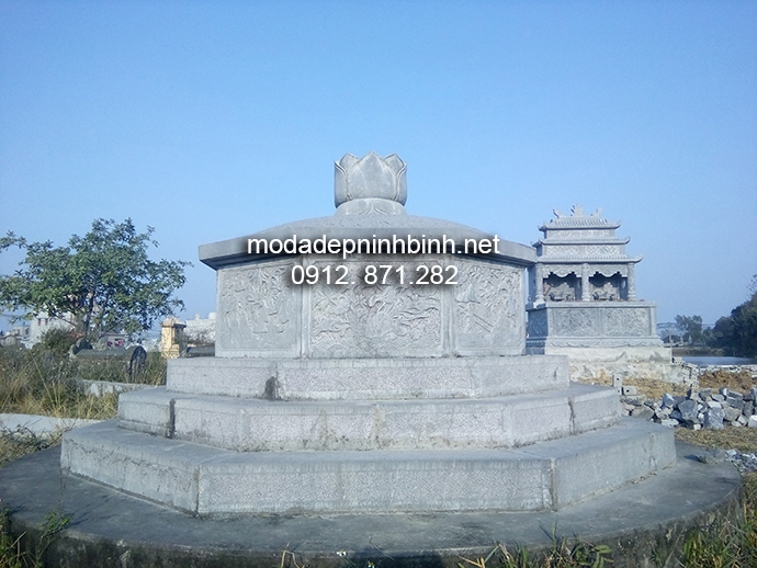 Mẫu mộ bát giác đẹp 003
