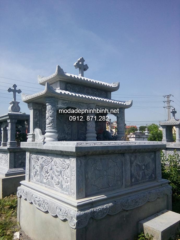 Mẫu mộ đá công giáo đẹp 002