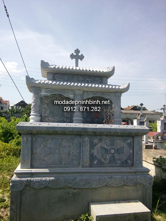 Mẫu mộ đá công giáo đẹp 003