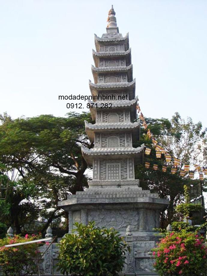 Mẫu mộ tháp đá đẹp 007