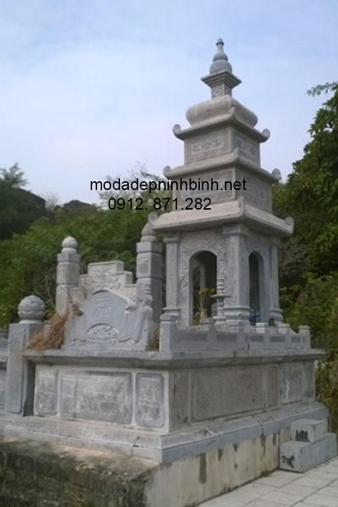 Mẫu mộ tháp đá đẹp 008