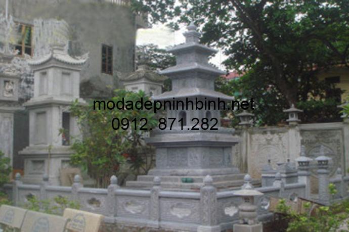 Mẫu mộ tháp đá đẹp 009