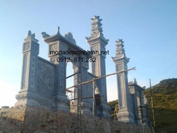 Mẫu cổng tam quan đá đẹp 010