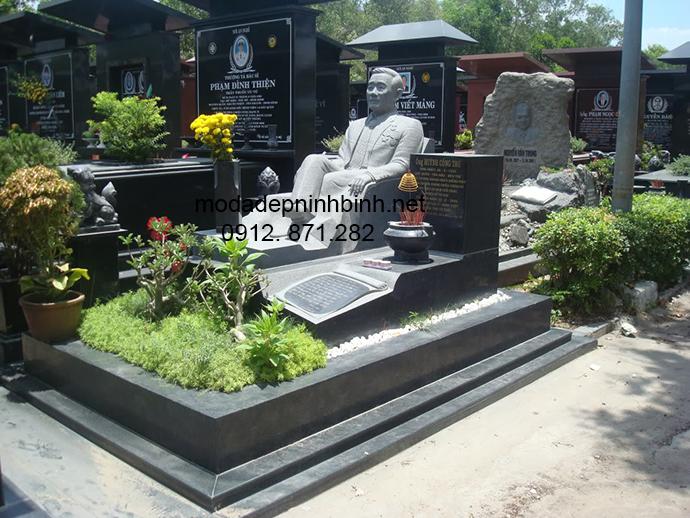 Mẫu mộ đá granite đẹp 009