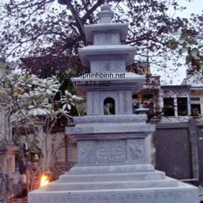 Mẫu mộ tháp đá đẹp 001