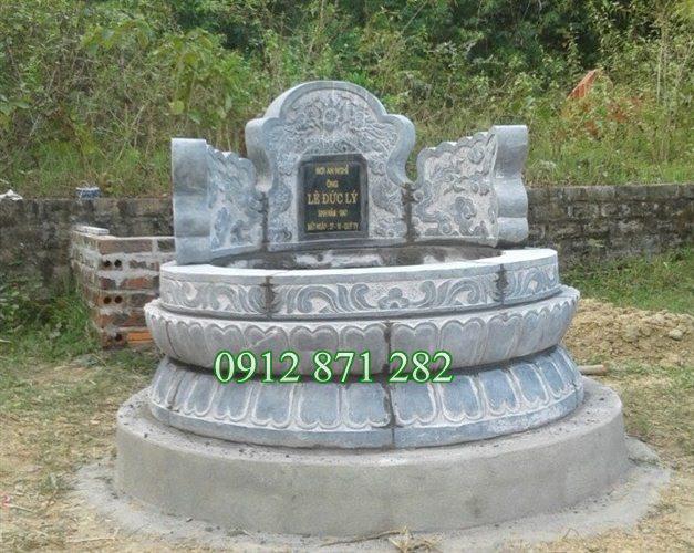 Mộ tròn kích thước đẹp, Kích thước xây mộ tròn đẹp, Xây mộ tròn đẹp, Mẫu mộ tròn hợp phong thủy;