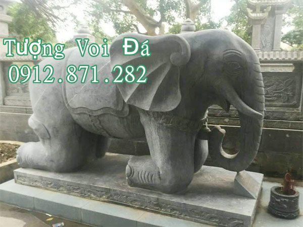 Tìm hiểu tượng voi làm bằng đá đẹp