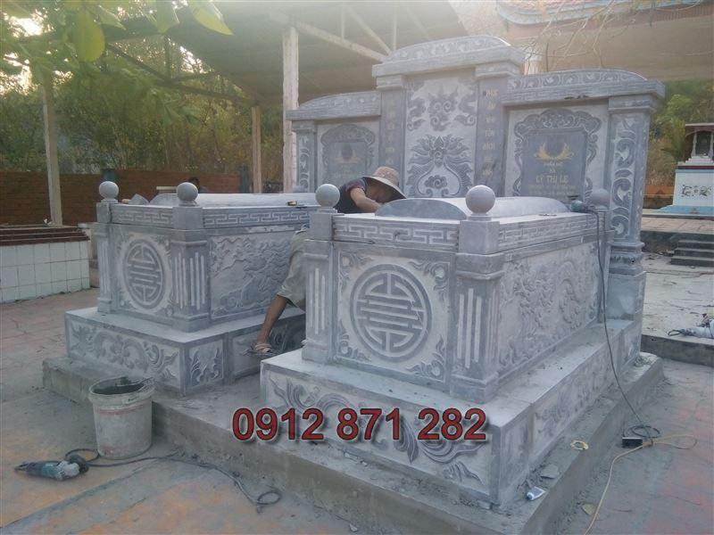 kích thước xây mộ đôi đẹp 2