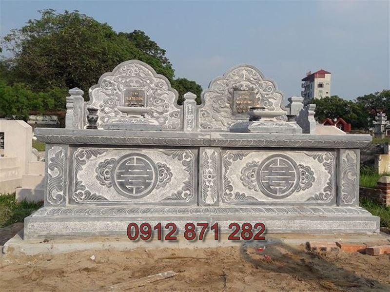 Mẫu xây mộ đôi đẹp 1