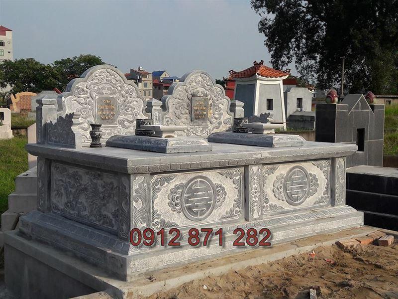 Mẫu xây mộ đôi đẹp 2