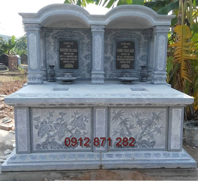Thiết kế mộ đôi đẹp 1