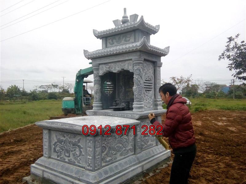mộ đá 2 mái 1