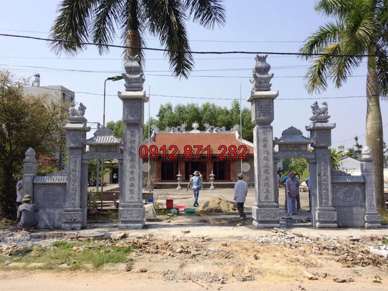 Cổng đình đẹp tại Bắc Giang 01
