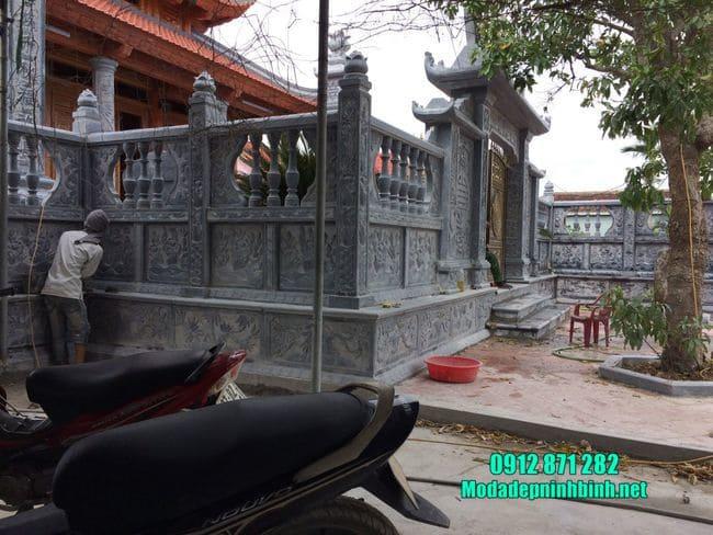 cổng nhà thờ họ bằng đá