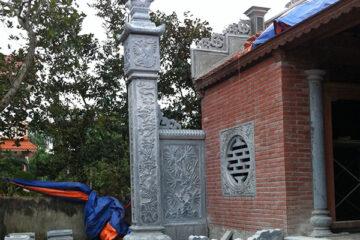 Cột đồng trụ nhà thờ họ - Các mẫu cột đồng trụ nhà thờ họ bằng đá đẹp