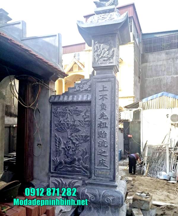 mẫu cột đồng trụ bằng đá đẹp