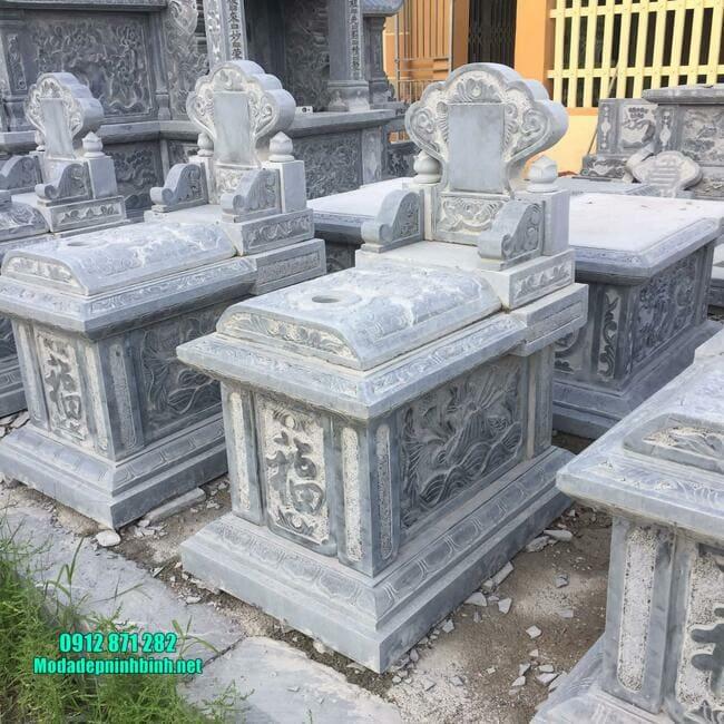 mẫu mộ tam sơn bằng đá xanh