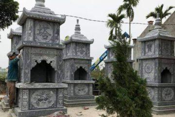 mẫu mộ tháp đá