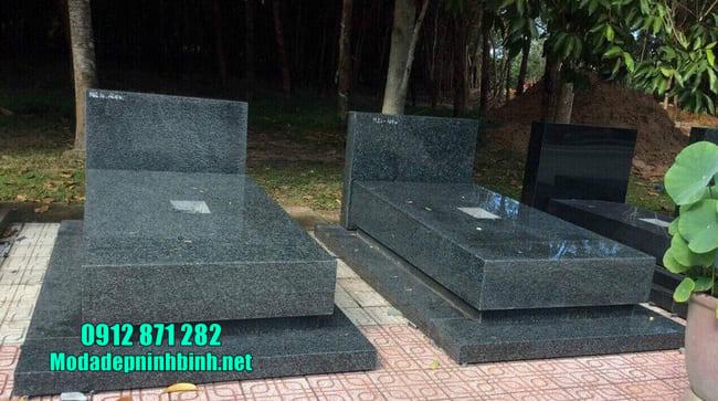 mộ đá granite nguyên khối đẹp