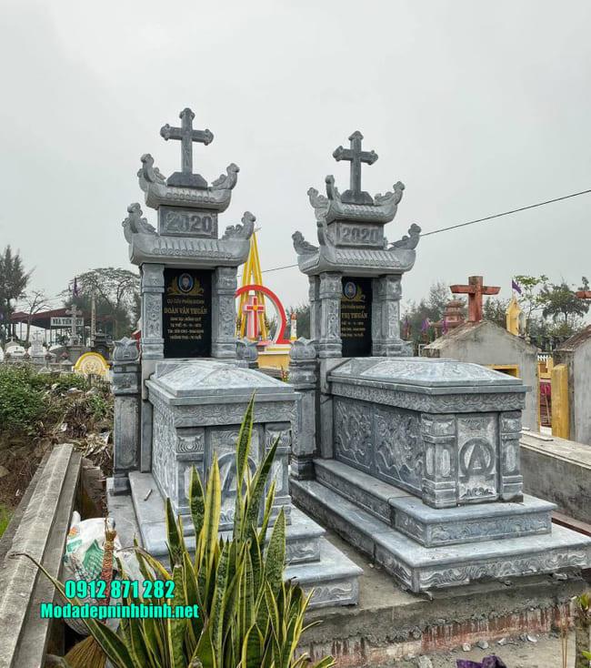 mộ người theo đạo bằng đá đẹp nhất