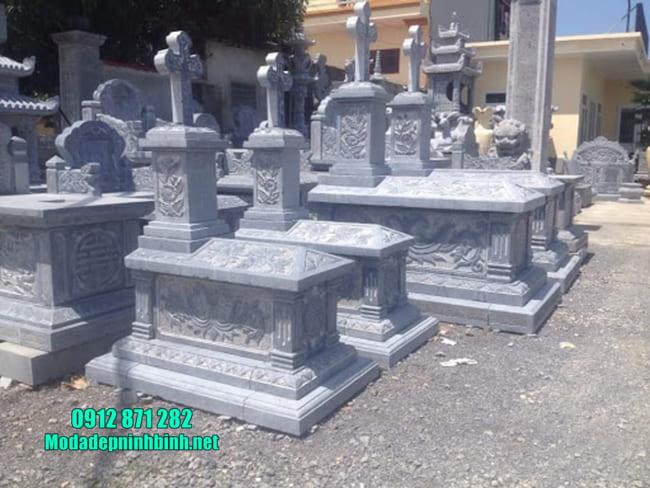 mộ người theo đạo bằng đá đẹp