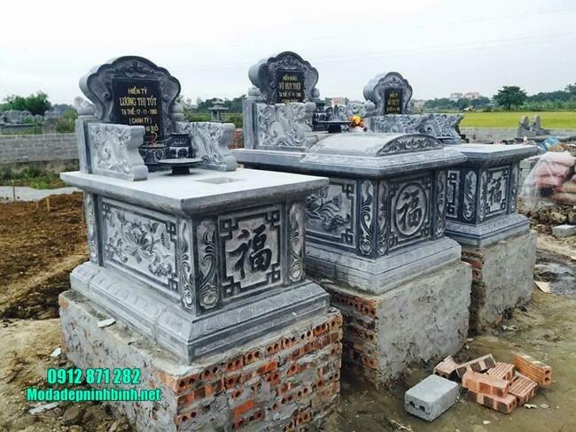 mộ tam sơn bằng đá xanh
